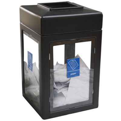 Recycling Stations Clear Sided Recycling Bin Workplace