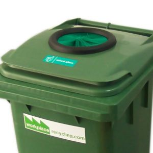 External Recycling Wheelie Bin - GlassGlass Recycling Bin
